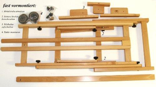 Atelier-Staffelei 131, BUCHENHOLZ, Höhe bis 230 cm, vormontiert - kein Bausatz ! - 3