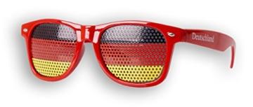 1 x Fanbrille Deutschland - Rot – Sonnenbrille – Brille Germany – Schwarz Rot Gold - Fan Artikel (1) - 2