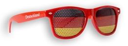 1 x Fanbrille Deutschland - Rot – Sonnenbrille – Brille Germany – Schwarz Rot Gold - Fan Artikel (1) - 1