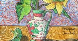 Ölbild Blumenvase und andere