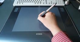 Grafiktablett und Stift: am PC zeichnen