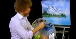 Bob Ross Landschaftsbild malen