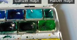 Aquarellkasten Farben