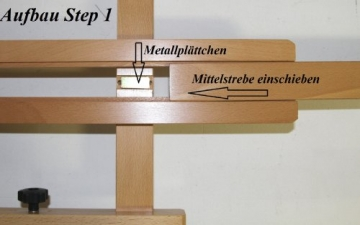 Atelier-Staffelei 131, BUCHENHOLZ, Höhe bis 230 cm, vormontiert - kein Bausatz ! - 4