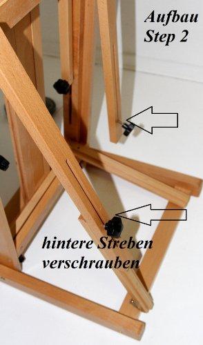 Atelier-Staffelei 131, BUCHENHOLZ, Höhe bis 230 cm, vormontiert - kein Bausatz ! - 5