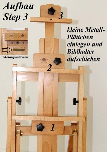 Atelier-Staffelei 131, BUCHENHOLZ, Höhe bis 230 cm, vormontiert - kein Bausatz ! - 6