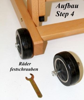 Atelier-Staffelei 131, BUCHENHOLZ, Höhe bis 230 cm, vormontiert - kein Bausatz ! - 7