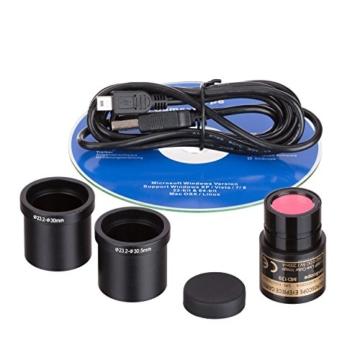 40x 2000x LED Digital Fernglas Compound Mikroskop w 3D Stage + 1,3MP USB-Kamera - 5
