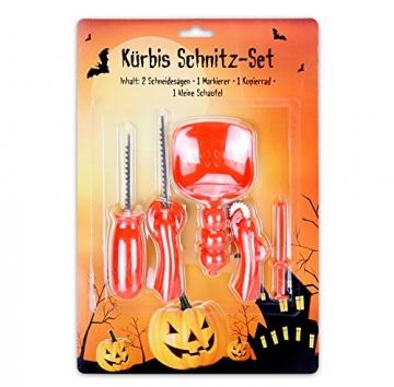 6x 5teiliges Kürbis - Schnitz Set zum gestalten von Halloween Kürbisen -