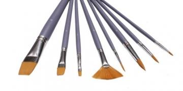 8 Toray Künstlerpinsel Fächerpinsel Spitzpinsel spitz Flachpinsel flach Pinsel Toraypinsel Acrylpinsel Aquarellpinsel -