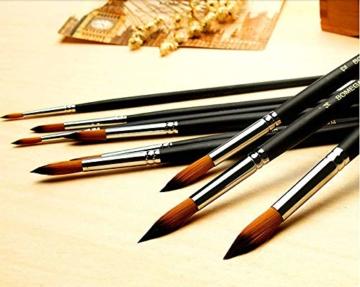 9 Stück Premium Nylon Pinsel für Aquarell, Acryfarben & ölfarben usw. Perfektes Pinsel Set für Anfänger, Kinder, Künstler und Gemälde Liebhaber - 2