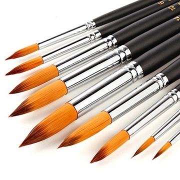 9 Stück Premium Nylon Pinsel für Aquarell, Acryfarben & ölfarben usw. Perfektes Pinsel Set für Anfänger, Kinder, Künstler und Gemälde Liebhaber - 1
