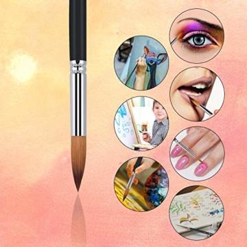 9 Stück Premium Nylon Pinsel für Aquarell, Acryfarben & ölfarben usw. Perfektes Pinsel Set für Anfänger, Kinder, Künstler und Gemälde Liebhaber - 5