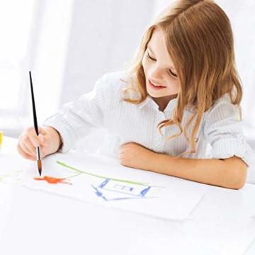 9 Stück Premium Nylon Pinsel für Aquarell, Acryfarben & ölfarben usw. Perfektes Pinsel Set für Anfänger, Kinder, Künstler und Gemälde Liebhaber - 6