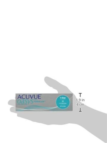 ACUVUE OASYS 1-Day Tageslinsen helfen das Gefühl von müden & trockenen Augen zu reduzieren – Tageskontaktlinsen mit -3 dpt und BC 8.5 – UV Schutz & hoher Tragekomfort – 30 Linsen - 6
