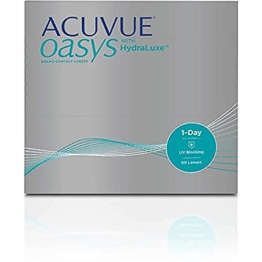 ACUVUE OASYS 1-Day Tageslinsen helfen das Gefühl von müden & trockenen Augen zu reduzieren – Tageskontaktlinsen mit -1,5 dpt und BC 8.5 – UV Schutz & hoher Tragekomfort – 90 Linsen - 1