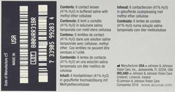 ACUVUE Vita Monatskontaktlinsen mit maximalem Tragekomfort – Den ganzen Monat lang – -3 dpt & BC 8.4 – Mit UV Schutz & durchgängig hohem Feuchtigkeitsgehalt – 6 Linsen - 3
