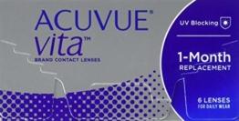 ACUVUE Vita Monatskontaktlinsen mit maximalem Tragekomfort – Den ganzen Monat lang – -3 dpt & BC 8.4 – Mit UV Schutz & durchgängig hohem Feuchtigkeitsgehalt – 6 Linsen - 1