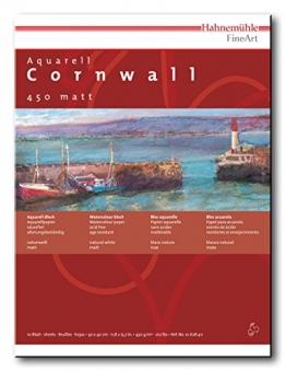 Aquarellblock Cornwall matt 450g 17x24cm 10 Blatt -