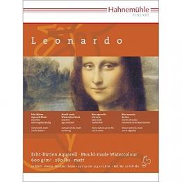 """Aquarellblock Leonardo"""" satiniert 600g/m², 30x40cm, 10Blatt"""" -"""