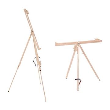 Art-Star Holz Feld STAFFELEI Pine 180cm | Leinwände & Keilrahmen bis 110 cm Höhe | tragbare Feldstaffelei zum Malen - 3