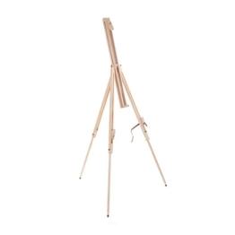Art-Star Holz Feld STAFFELEI Pine 180cm | Leinwände & Keilrahmen bis 110 cm Höhe | tragbare Feldstaffelei zum Malen - 1