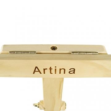 Artina Akademiestaffelei Staffelei Sevilla - massives geöltes Kiefernholz - Bildhöhe bis 120cm - vielseitig anwendbar - 5