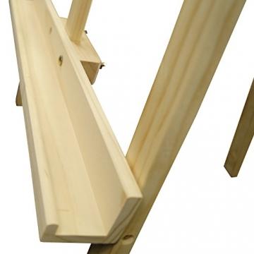 Artina Akademiestaffelei Staffelei Sevilla - massives geöltes Kiefernholz - Bildhöhe bis 120cm - vielseitig anwendbar - 7