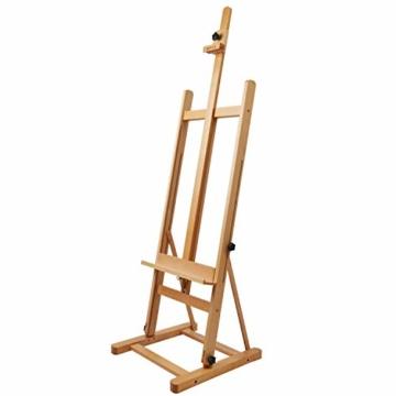 Artina Atelierstaffelei Siena Staffelei Massive Holzstaffelei aus geöltem Buchenholz für Leinwände bis 125 cm - klappbar - 2