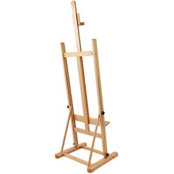 Artina Atelierstaffelei Siena Staffelei Massive Holzstaffelei aus geöltem Buchenholz für Leinwände bis 125 cm - klappbar - 4