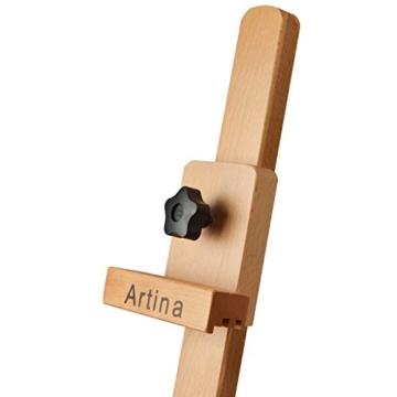 Artina Atelierstaffelei Siena Staffelei Massive Holzstaffelei aus geöltem Buchenholz für Leinwände bis 125 cm - klappbar - 5