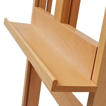 Artina Atelierstaffelei Siena Staffelei Massive Holzstaffelei aus geöltem Buchenholz für Leinwände bis 125 cm - klappbar - 6