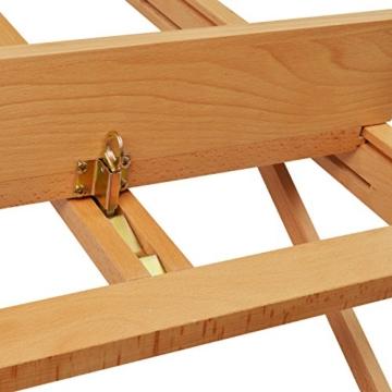 Artina Atelierstaffelei Siena Staffelei Massive Holzstaffelei aus geöltem Buchenholz für Leinwände bis 125 cm - klappbar - 7