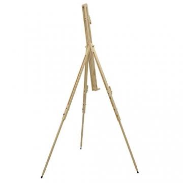 Artina® Feld-Staffelei Malaga aus Massiv-Holz: tragbare, leichte Staffelei & äußerst stabil. Perfekt als Künstler-Bedarf - 3