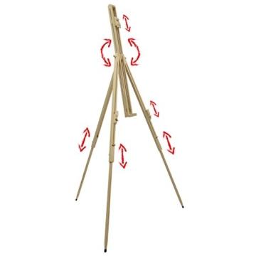 Artina Feld-Staffelei Malaga aus Massiv-Holz: tragbare, leichte Staffelei & äußerst stabil. Perfekt als Künstler-Bedarf - 2