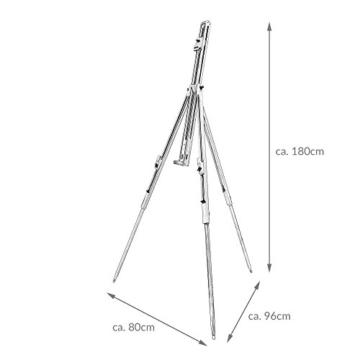 Artina Feld-Staffelei Malaga aus Massiv-Holz: tragbare, leichte Staffelei & äußerst stabil. Perfekt als Künstler-Bedarf - 7