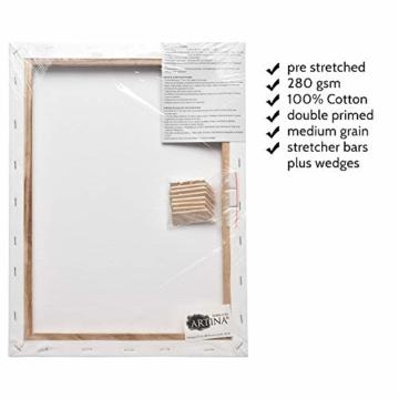 Artina FSC® Keilrahmen 14er Set Akademie - 50x70, 30x40 cm, 24x30, 13x18 cm Leinwand Set - 100% Baumwolle 280g/m² - 5
