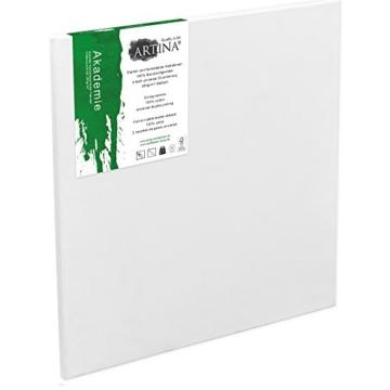 Artina FSC Keilrahmen Akademie 30x40 cm 5er Set - Aus 100% Baumwolle Leinwand Keilrahmen weiß - 280g/m² - verzugsfrei - 3