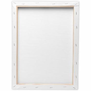 Artina FSC Keilrahmen Akademie 5er Set 18x24 cm - Aus 100% Baumwolle Leinwand Keilrahmen weiß - 280g/m² - verzugsfrei - 9