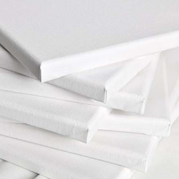 Artina Keilrahmen 40x60 cm Leinwand 100% Baumwolle auf stabilen Leisten in Akademie Qualität - weiß grundiert - 280 g/m² - 6