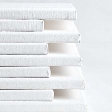 Artina Keilrahmen 40x60 cm Leinwand 100% Baumwolle auf stabilen Leisten in Akademie Qualität - weiß grundiert - 280 g/m² - 8