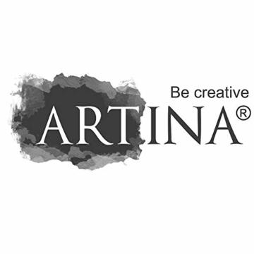 Artina Keilrahmen 40x60 cm Leinwand 100% Baumwolle auf stabilen Leisten in Akademie Qualität - weiß grundiert - 280 g/m² - 9