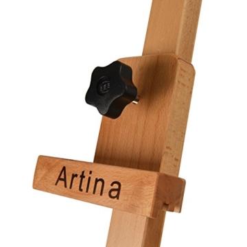 Artina Leinwand Staffelei Holz groß Barcelona - Holz-Staffelei aus Buche - Natur Künstler Staffelei für Keilrahmen bis 120 cm mit Doppelauflage - 5