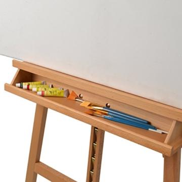Artina Leinwand Staffelei Holz groß Barcelona - Holz-Staffelei aus Buche - Natur Künstler Staffelei für Keilrahmen bis 120 cm mit Doppelauflage - 6