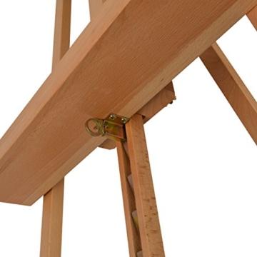 Artina Leinwand Staffelei Holz groß Barcelona - Holz-Staffelei aus Buche - Natur Künstler Staffelei für Keilrahmen bis 120 cm mit Doppelauflage - 7