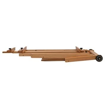 Artina Profi Atelier-Staffelei Bordeaux als Studiostaffelei groß massives Buchen-Holz 2 Leinwände gleichzeitig möglich - 5