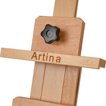 Artina Profi Atelier-Staffelei Bordeaux als Studiostaffelei groß massives Buchen-Holz 2 Leinwände gleichzeitig möglich - 8