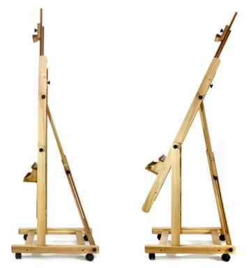 Artina Profi Staffelei Atelierstaffelei Verona - rollbare, massive Staffelei aus Holz - 2