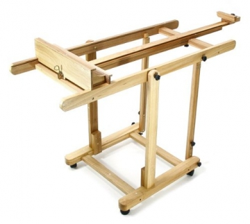Artina Profi Staffelei Atelierstaffelei Verona - rollbare, massive Staffelei aus Holz - 3