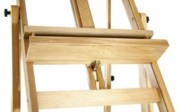 Artina Profi Staffelei Atelierstaffelei Verona - rollbare, massive Staffelei aus Holz - 4
